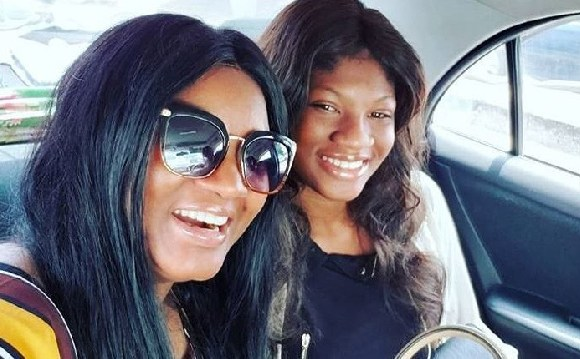 Omotola and her daughter Princess