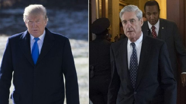President Donald Trump (left) has criticised Robert Mueller's (right)
