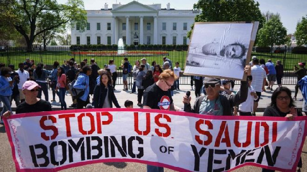 Protesters have long called for an end of US military involvement in Yemen