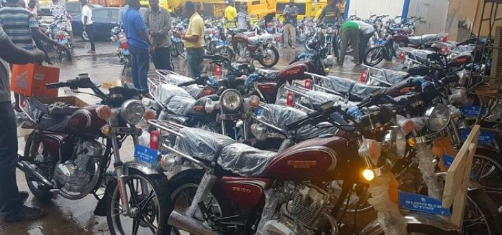 Some of the motorbikes
