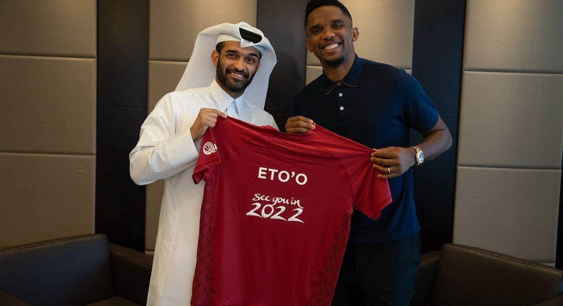 190213_Samuel Eto'o Signing with the SG