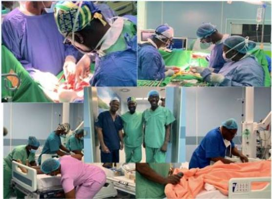 Professor Frimpong-Boateng led a medical team to perform the surgery