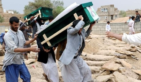 Some 65% of the deaths in the fighting have been attributed to Saudi-led coalition air strikes