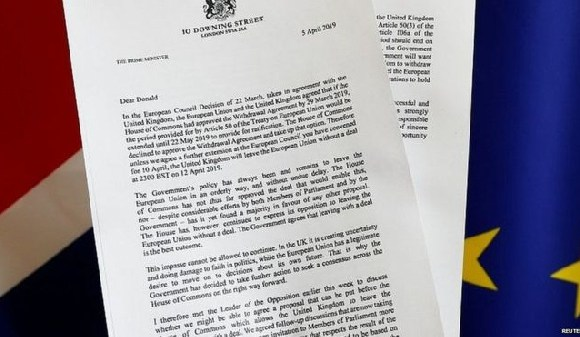 The prime minister has written another 'Dear Donald' letter to the European Council president
