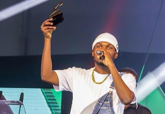 Victor AD was crowned 'African Artiste of the Year' at the 2019 edition of the 3Music Awards