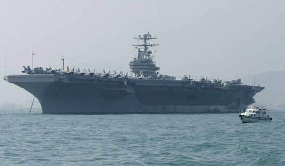 A file photo from 2004 of the USS Abraham Lincoln, which is currently on its way to Iran (AFP)