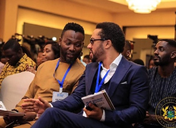 Adjetey Anang and Majid Michel at the launch
