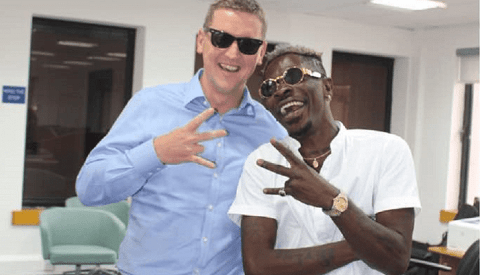 British High Commissioner Ian Walker and Musician Shatta Wale