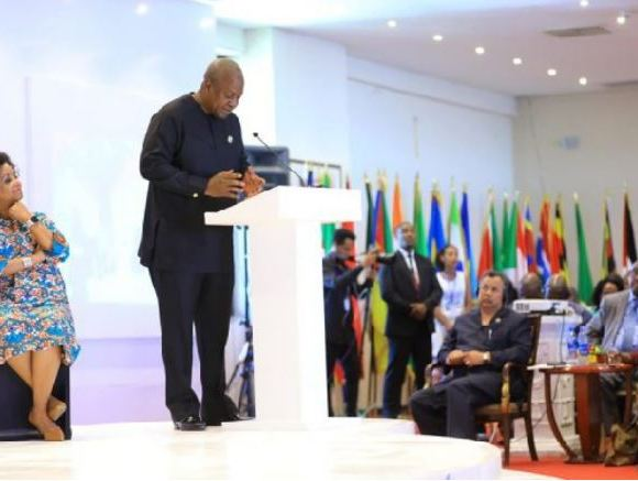 John Mahama speaking at the 8th Tana High-Level Forum on Security in Bahir Dar