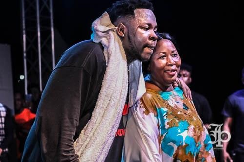 Medikal and his mother