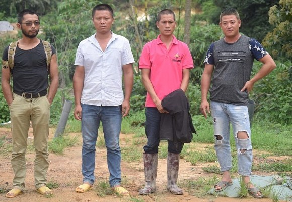Chinese illegal mining suspects