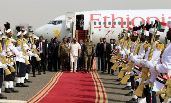 Ethiopian Prime Minister Abiy Ahmed, arrives to mediate in the political crisis