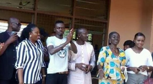 Lil Win visited some BECE centers to motivate the candidates