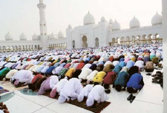 Prayers at mosque