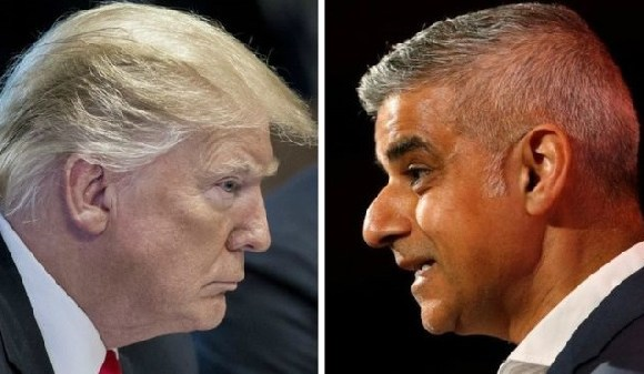 The US president and London mayor Sadiq Khan have been in a 'political grudge match' for years