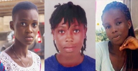 The three girls were kidnapped in Takoradi last year