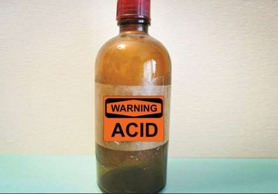 bottle of acid