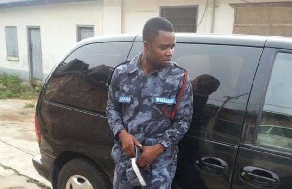 Detective Corporal John Evans Ayerakwa-Kumordzi is seeking to become the MP for Okere Constituency