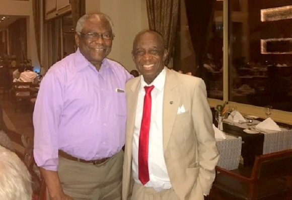 Dr. Thomas Mensah in a pose with James Clyburn
