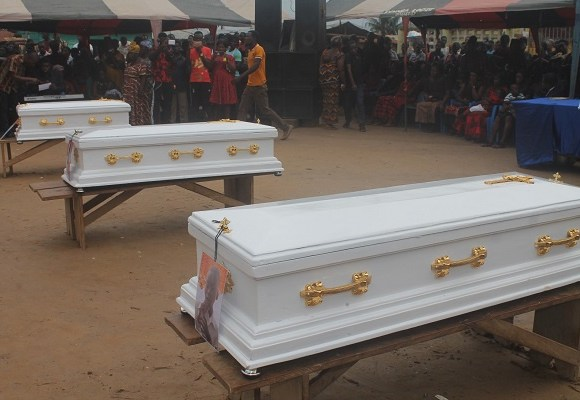 Funeral held for three victims