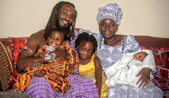 Academic Obadele Kambon lives with his family in Ghana's capital