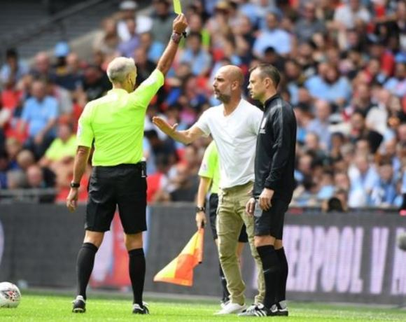 Pep was yellow carded in the game