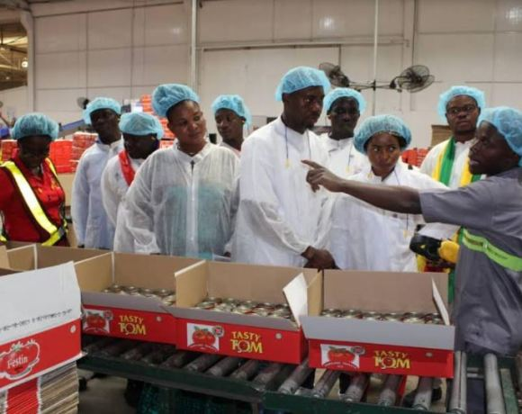 Chefs from various participating countries toured Nutrifoods in Tema