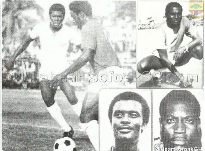 Mohammed Polo in action(L), Peter Lamptey (Top), Anas Seidu (Down R), Adolf Armah(Down L)
