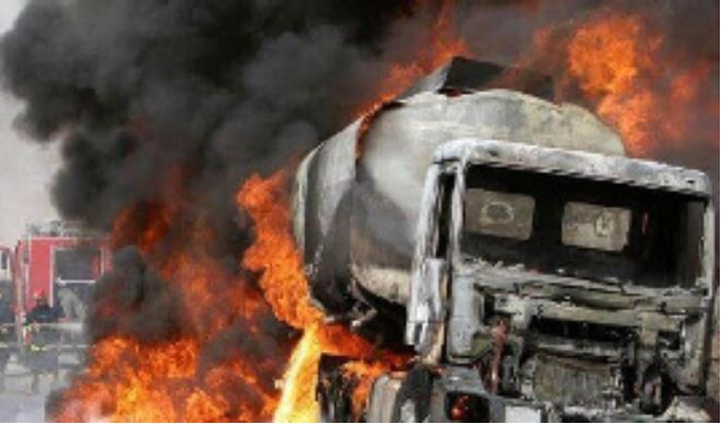 Tanker catches fire at Madina