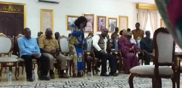 NDC delegation at Okyenhene's palace