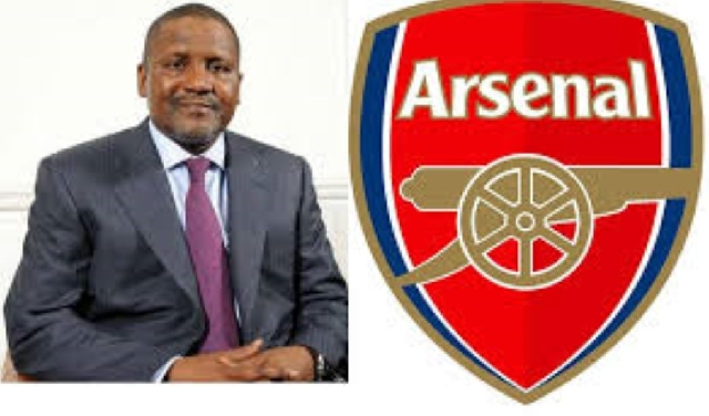 Dangote and Arsenal logo