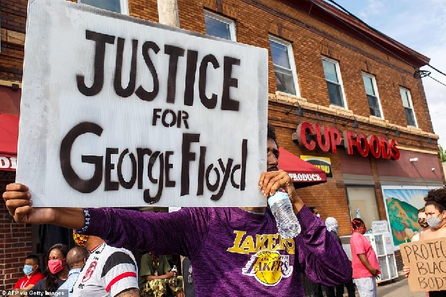 Protesters seeking justice for Floyd