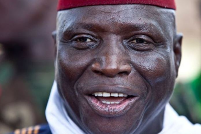 Michael Sang Correa was part of an armed unit that reported to ex-President Yahya Jammeh (pictured)