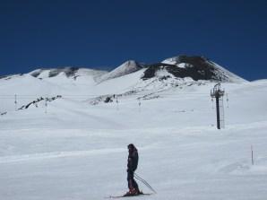 Skiing Etna