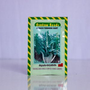 Fordhook Giant is a spinach variety that is highly nutritious with dark green leaf color and broad white stems