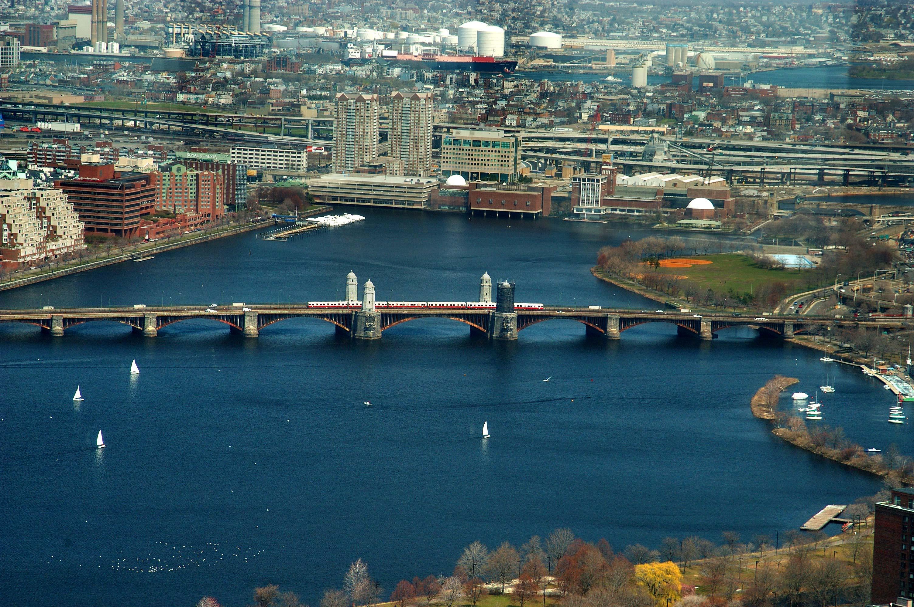 New England Fall Wallpaper Photo 337 12 Long Fellow Bridge Across Charles River From