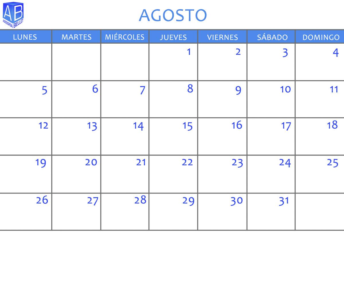 Pin Calendario Agosto 2013 Para Imprimir Gratis Espacio