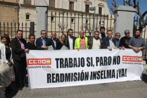 Inselma recibida por los parlamentarios andaluces