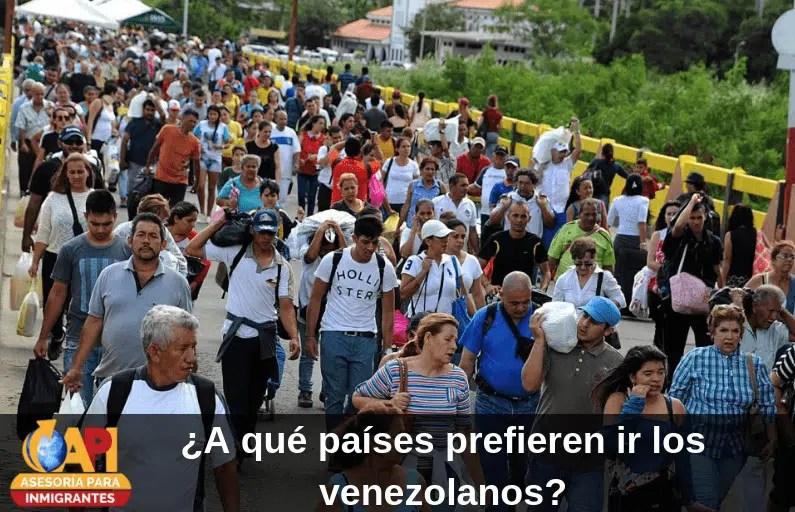 países prefieren ir los venezolanos
