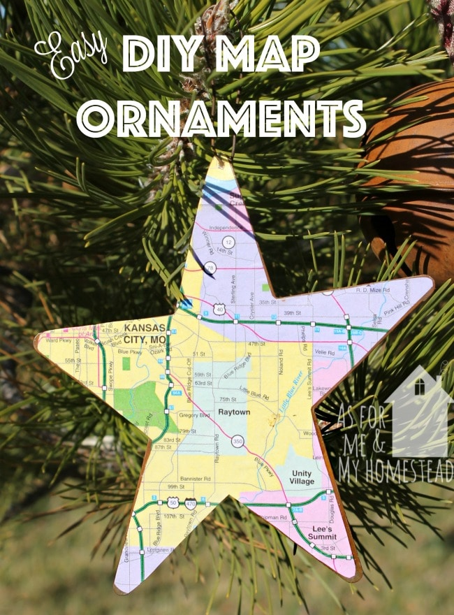 Easy Diy Map Ornaments  As For Me And My Homestead