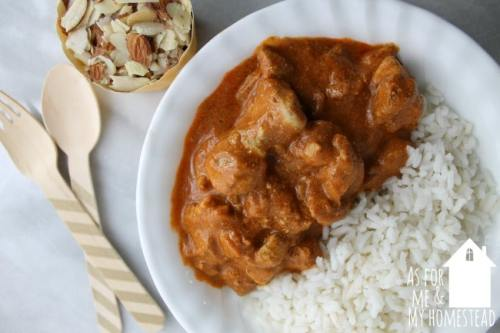Cooking delicious food from scratch doesn't have to take all day. This Indian Butter Chicken is ready in about 30 minutes, and is full of flavor, making it the perfect weeknight dinner recipe!