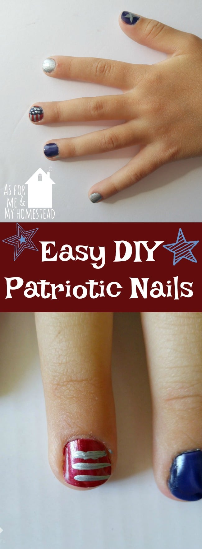 Easy DIY Patriotic Nails
