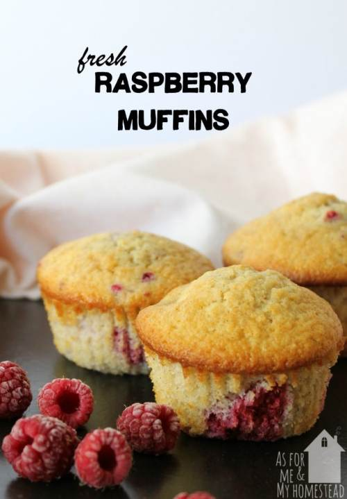 Packed full of raspberries, these muffins are perfect for breakfast or a snack. They also freeze well, if you want to make some ahead of time!