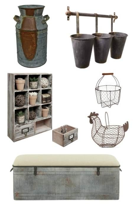Gorgeous Rustic Farmhouse Decor that won't break the bank! I'm loving all the rust, reclaimed wood, and galvanized metal!