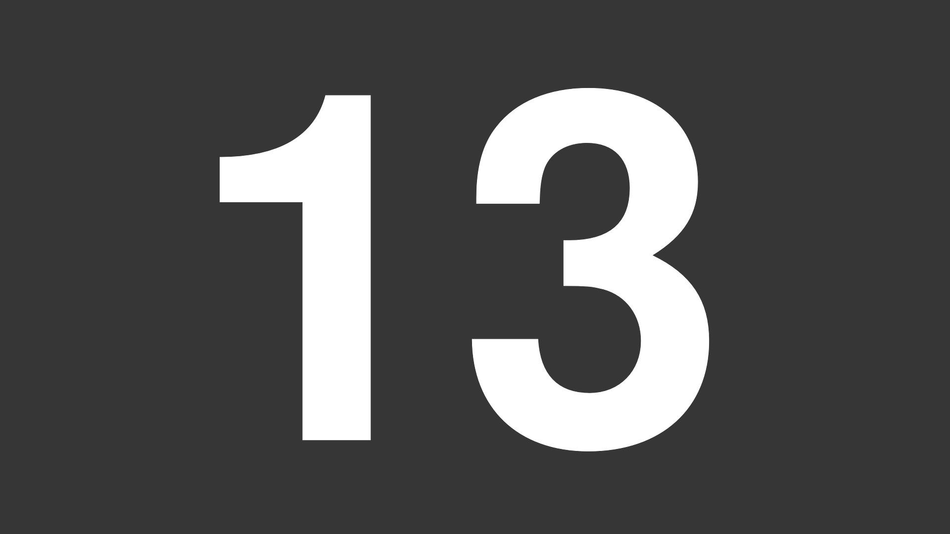 ¿Es el número 13 el de la...