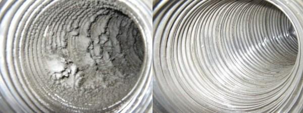 До и после очистки системы вентиляции