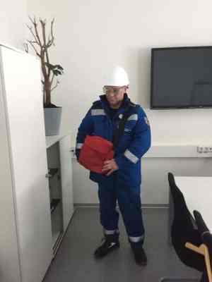 Специалист «АСГАРД-Сервис» на объекте «Линде Азот Тольятти»