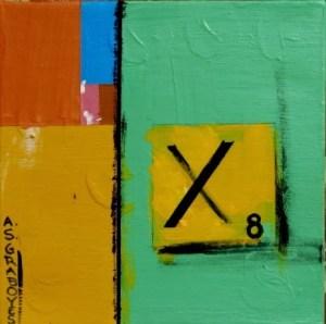 fibonacci 8, scrabble, x
