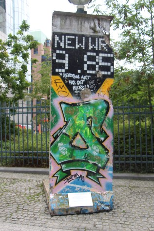 A piece of the Berlin Wall in Brussels we saw between visits.