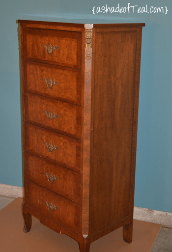 Light Wood Tall Dresser